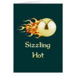 Sizzling Hot Pinball Stationery Note Card