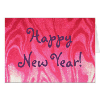 Sizzling Red New Year Card