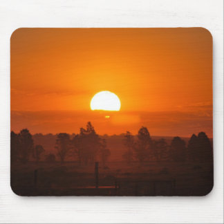 Sizzling sunset mouse pad