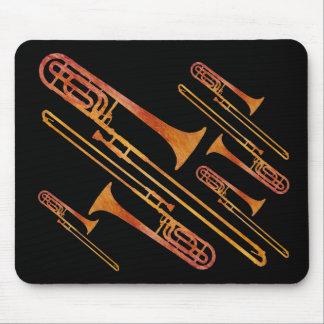 Sizzling Trombones Mouse Pad