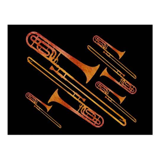 Sizzling Trombones Postcard