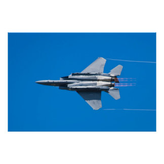 SJ AF 87 0179 F-15E Strike Eagle Right Bank Poster