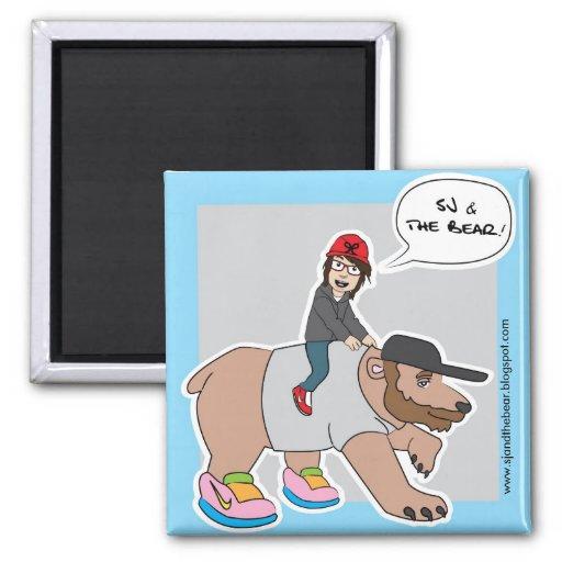 Sj y el oso - imán