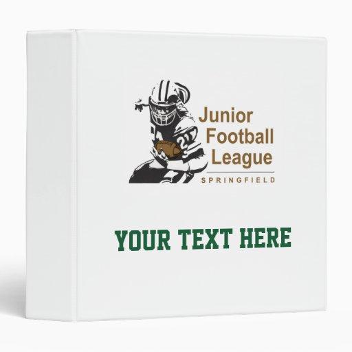 SJFL Logo Vinyl Binder
