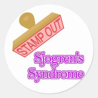 Sjogren's Syndrome Classic Round Sticker