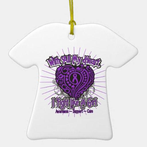 Sjogrens Syndrome Heart I Fight Like A Girl Christmas Ornament