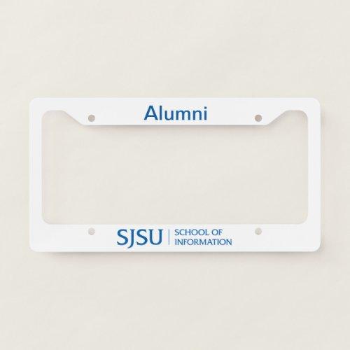 SJSU iSchool Alumni License Plate Frame