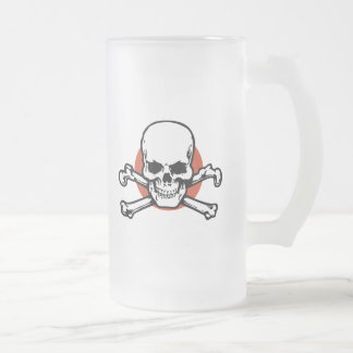 sk708-rcl 16 oz frosted glass beer mug