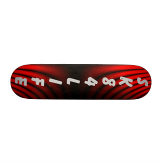 SK84LIFE SKATEBOARD BLACK AND RED