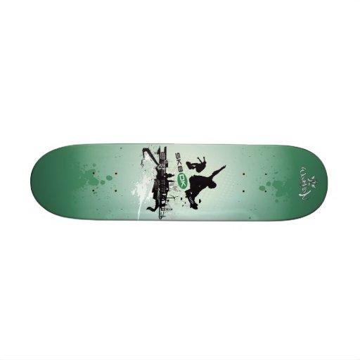 SK8 DK Skateboard_green Skate Board Deck