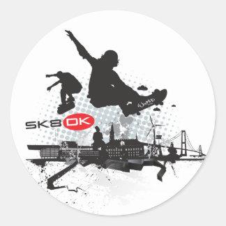 SK8 DK ROUND STICKER