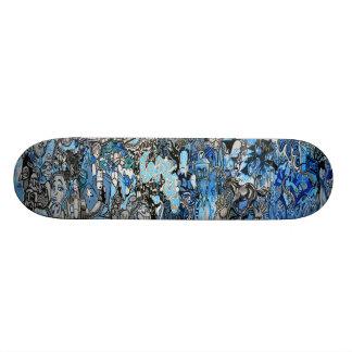 Sk8 su de los azules arte de la pintada Sk8 lejos  Patines