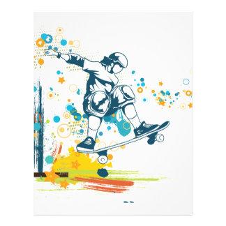 sk8er skateboarder vector letterhead