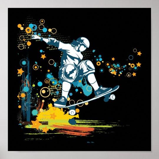 sk8er skateboarder vector poster