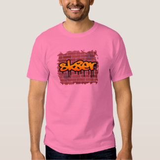 sk8er (skater) graffiti  design t-shirt