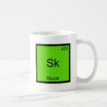 Sk - Skunk Funny Chemistry Element Symbol Tee Coffee Mug