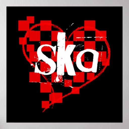 ska : checkered heart : poster