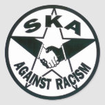 Ska contra racismo pegatina redonda