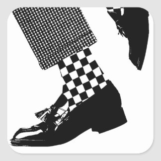 Ska Feet for your Scooter Square Sticker