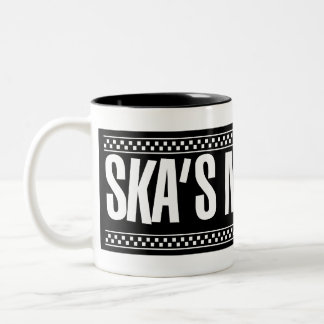 ¡Ska no muerto! - Blanco Taza Dos Tonos