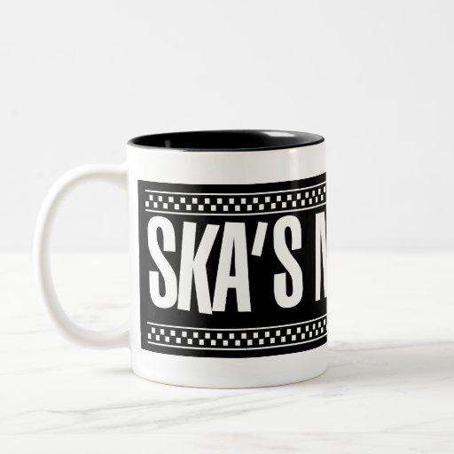 ¡Ska no muerto! - Blanco Taza De Café De Dos Colores
