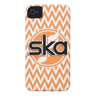 Ska; Orange and White Chevron iPhone4 Case