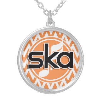 Ska; Orange and White Chevron Custom Jewelry