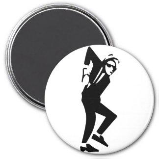 Ska Rude Boy Dancing 3 Inch Round Magnet