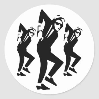 Ska Rude Boy Dancing (pack of 6/20) Classic Round Sticker