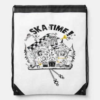 Ska Time Cuckcoo Clock Drawstring Backpack