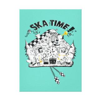 Ska Time Cuckoo Clock Canvas Print