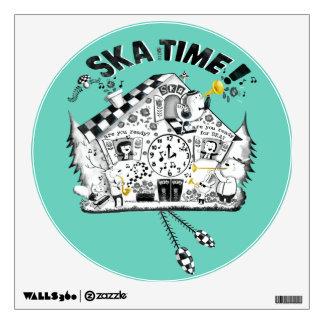 Ska Time Cuckoo Clock Wall Sticker