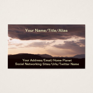 Skagit Storm Clouds Business Card