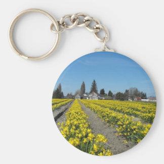 skagit valley tulips 2 basic round button keychain