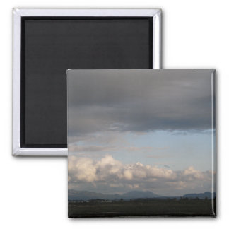 Skagit Valley View 2 Inch Square Magnet