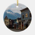 Skagway 287 adorno navideño redondo de cerámica