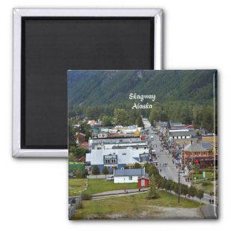 Skagway, Alaska 2 Inch Square Magnet