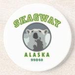 Skagway Alaska Beverage Coaster