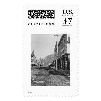 Skagway Alaska Broadway 1918 Postage Stamp