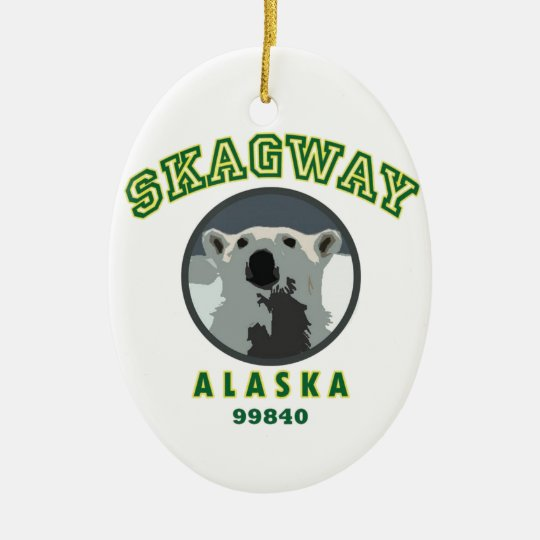 Skagway Alaska Ceramic Ornament