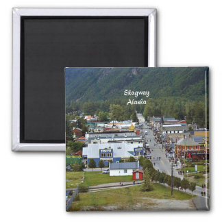 Skagway, Alaska Imán Cuadrado