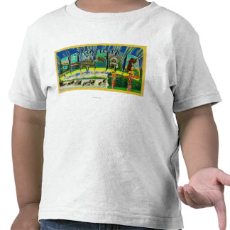 Skagway, Alaska - Large Letter Scenes Tshirt