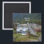 "Skagway, Alaska Magnet<br><div class=""desc"">Photograph of Skagway,  Alaska,  fridge magnet.</div>"