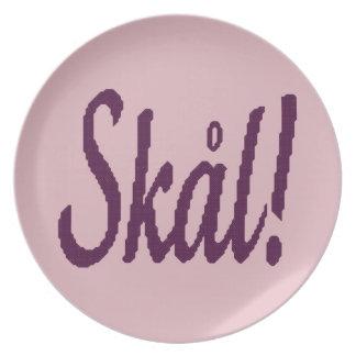 Skal! Norwegian Cheers Plate