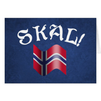 Skal Norwegian Flag Norway Drinking Toast Card