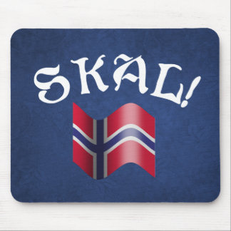 Skal Norwegian Flag Norway Drinking Toast Mouse Pad