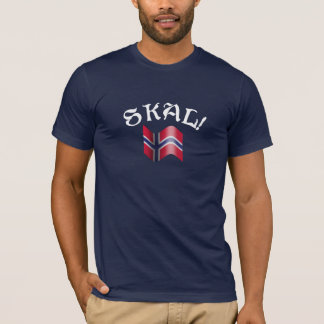 Skal Norwegian Flag Toast from Norway T-Shirt
