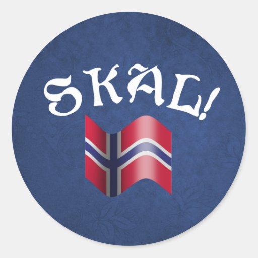 Skal! Norwegian Round Sticker