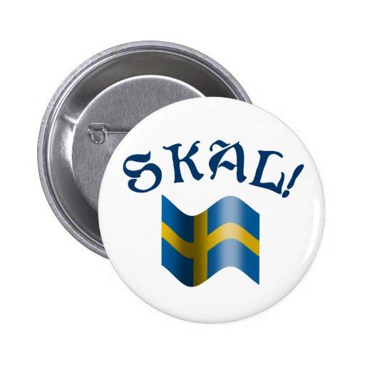 Skal! Sweden Pinback Buttons