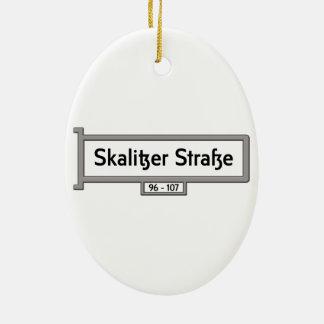 Skalitzer Strasse, placa de calle de Berlín Adorno Ovalado De Cerámica